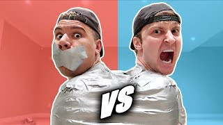 UNBREAKABLE DUCT TAPE ESCAPE CHALLENGE ft. WOLFIE