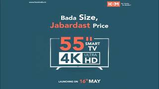 "HOM 55Inch Smart LED TV ""Bada Size, Zabardast Price"""
