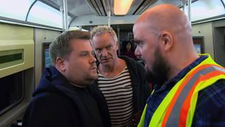 James Corden, Sting, & Shaggy Attempt Subway Karaoke   60th GRAMMYs