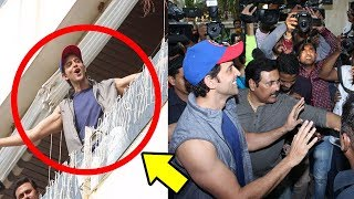 Hrithik Roshan Gets Down From His House To Celebrate 44th BIRTHDAY With FANS & Media