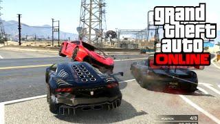 GTA 5 Online - Състезания | Бързи коли или хакери ?