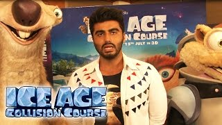 Ice Age: Collision Course - Arjun Kapoor DUBS The Hindi Version |  Exclusive Interview