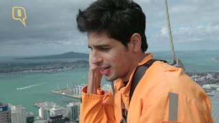 Sidharth Malhotra does the sky-walk in Auckland, New Zealand