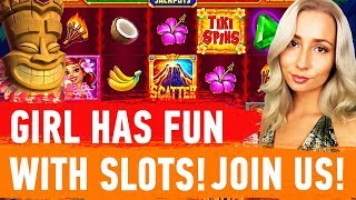 GIRL PLAYS IN CASINO ONLINE - CASINO STREAM GAMES 🎰 AND SLOTS