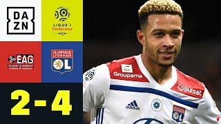 Memphis Depay zum Zunge schnalzen: Guingamp - Lyon 2:4 | Ligue 1 | DAZN Highlights