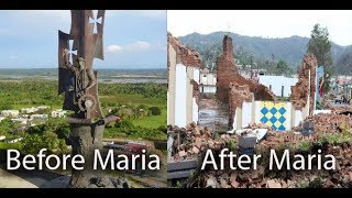 Arecibo in Puerto Rico before and after hurricane Maria,