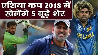 Asia Cup 2018: MS Dhoni, Shoaib Malik, 5 Oldest Players playing in Asia Cup|वनइंडिया हिंदी