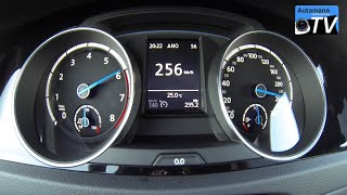2015 Volkswagen Golf 7 R (300hp) - 0-257 km/h acceleration (1080p)