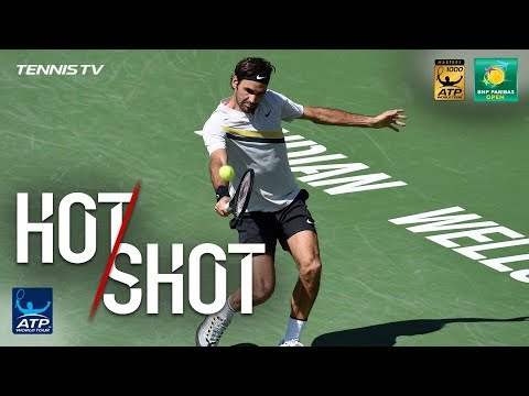 Xxx Mp4 Hot Shot Federer Digs Out Backhand Pass In Indian Wells SF 2018 3gp Sex