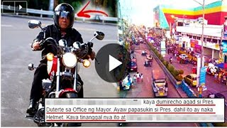 Duterte Used His Motorbike And Helmet To Check The Situation Of Traffic In Muntinlupa