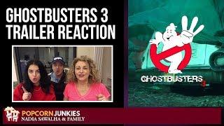 GHOSTBUSTERS 3 Teaser Trailer (Bill Murray) - The Popcorn Junkies & Nadia Sawalha Reaction
