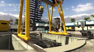 Vertical Shaft Access for Tunnel Construction-Technical Animation