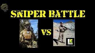 DesertFox Airsoft: Sniper Battle DesertFox vs Levelcap (Bolt action vs Semi-auto DMR)