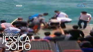 Kapuso Mo, Jessica Soho: Dalaga, nahulog sa barge dahil sa selfie!