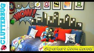 Little Boy's Superhero Room Tour