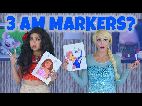 Xxx Mp4 DON'T DO 3 MARKER CHALLENGE AT 3AM We Play Elsa And Moana 3gp Sex