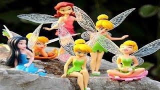 Disney Fairies Tinkerbell Slivermist Rosetta Full Of Fun Toy Figure Set DIY Movie In a Park