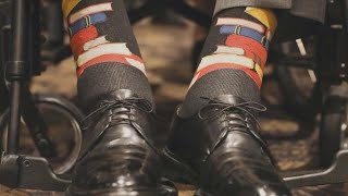 President Bush's book-themed socks gifted by young man with Down syndrome
