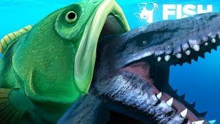 EATING THE MOSASAURUS WHOLE!!! - Fish Feed Grow