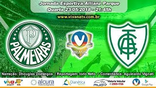 Palmeiras 0x1 América MG   AO VIVO   Copa do Brasil jogo de volta