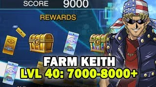 [Yu-Gi-Oh! Duel Links] How to Farm Bandit Keith Lvl 40   8000 Points
