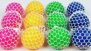 Learn Colors Squishy Balls Kinder Joy Surprise Toys PJ Masks Baby Finger Family Song for Kids