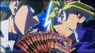 YUGIOH PACK OPENING CHALLENGE! - YUGI vs KAIBA Deck Duel!