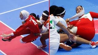 Indian Kabaadi players help Irani player during match after hijab displaced | Oneindia News