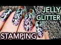 Download Video Jelly + Glitter Stamping elegant nail art 3GP MP4 FLV
