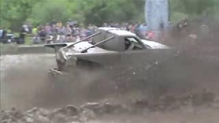 WTF Mega Mud Truck 2 0 Ripping up Barnyard Boggers Mud Bog