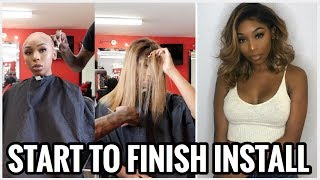 PERFECT ASH BLONDE HAIR (NO TONER) | START TO FINISH FRONTAL WIG INSTALL feat. UNice