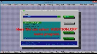 Lesson 2.3 : How To Find,  Saved File Location Of A 'Cpp' Program In Turbo C++( CPP ).