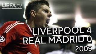 GERRARD, TORRES, ALONSO: LIVERPOOL 4-0 REAL MADRID, 2008/09 CHAMPIONS LEAGUE