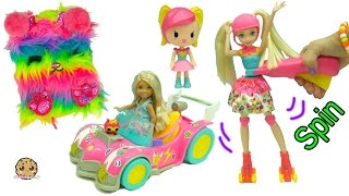 Barbie Video Game Hero New Movie Dolls - Rainbow Skates + Mini Race Car + Blind Bags