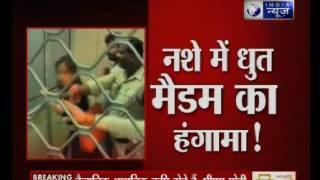 Madhya Pradesh: Drunk woman creates ruckus in Indore's Hospital
