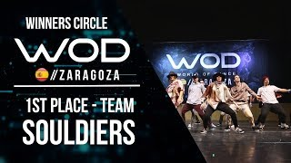 SOULDIERS | 1st Place Team | Winners Circle | World of Dance Zaragoza 2017 | #WODZGZ17