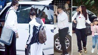 फैमिली के साथ एयरपोर्ट पर दिखे बिगबी, और उसकी बहु..