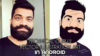 Technical Guruji Vector Portrait From Android phone- Full Tutorial - 2017