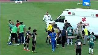الاتحاد VS الانتاج الحربي - اصابة خطيرة في الدقيقة الرابعة وتدخل سيارة الاسعاف الى ارض الملعب