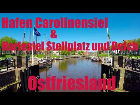 Hafen Carolinensiel und Harlesiel Wohnmobil Stellplatz u. Campingplatz Harlesiel Ostfriesland