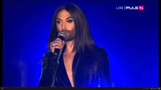 Conchita Wurst - Heroes / Put That Fire Out (Voices for Refugees, Puls4, 03.10.2015)