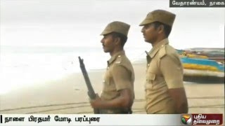 High Security Check for PM Modi to Campaign in Vedaranyam