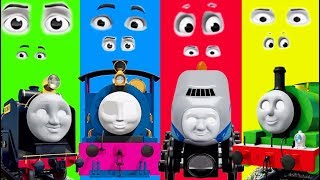 Baby Learn, Thomas and Friends, Funny EYE Swap Wrong Head Finger Family Nursery Baby Toy Train Kids!