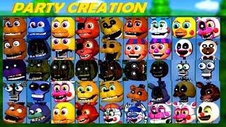 PLAY AS ANIMATRONICS!!.. FNAF WORLD: The Return to Nightmares