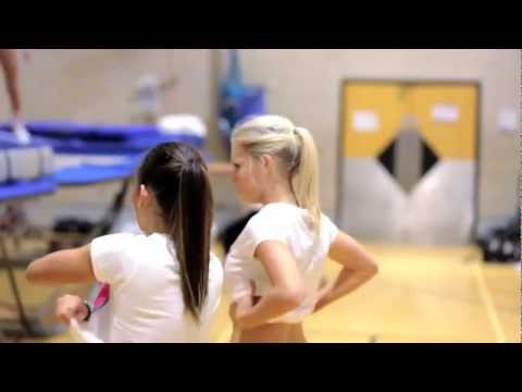 The World's Best Job-Topless Women Trampoline Coach