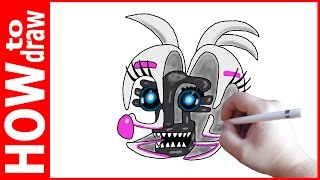 How to draw Funtime Chica Jumpscare , FNAF Sister Location, Как нарисовать Чику