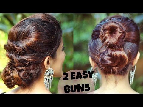 Xxx Mp4 2 QUICK EASY Indian Bun Hairstyles For Medium Long Hair For Saree Lehenga No Teasing No Hairspray 3gp Sex
