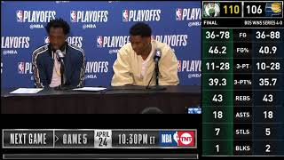 Shai Gilgeous-Alexander & Patrick Beverley postgame reaction | Clippers vs Warriors Game 4