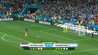 Argentina vs Netherland penalty shootout 2014 HD !
