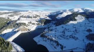 2 Bin Rakımlı Yaylada Kar Güzelliği Havadan Görüntülendi